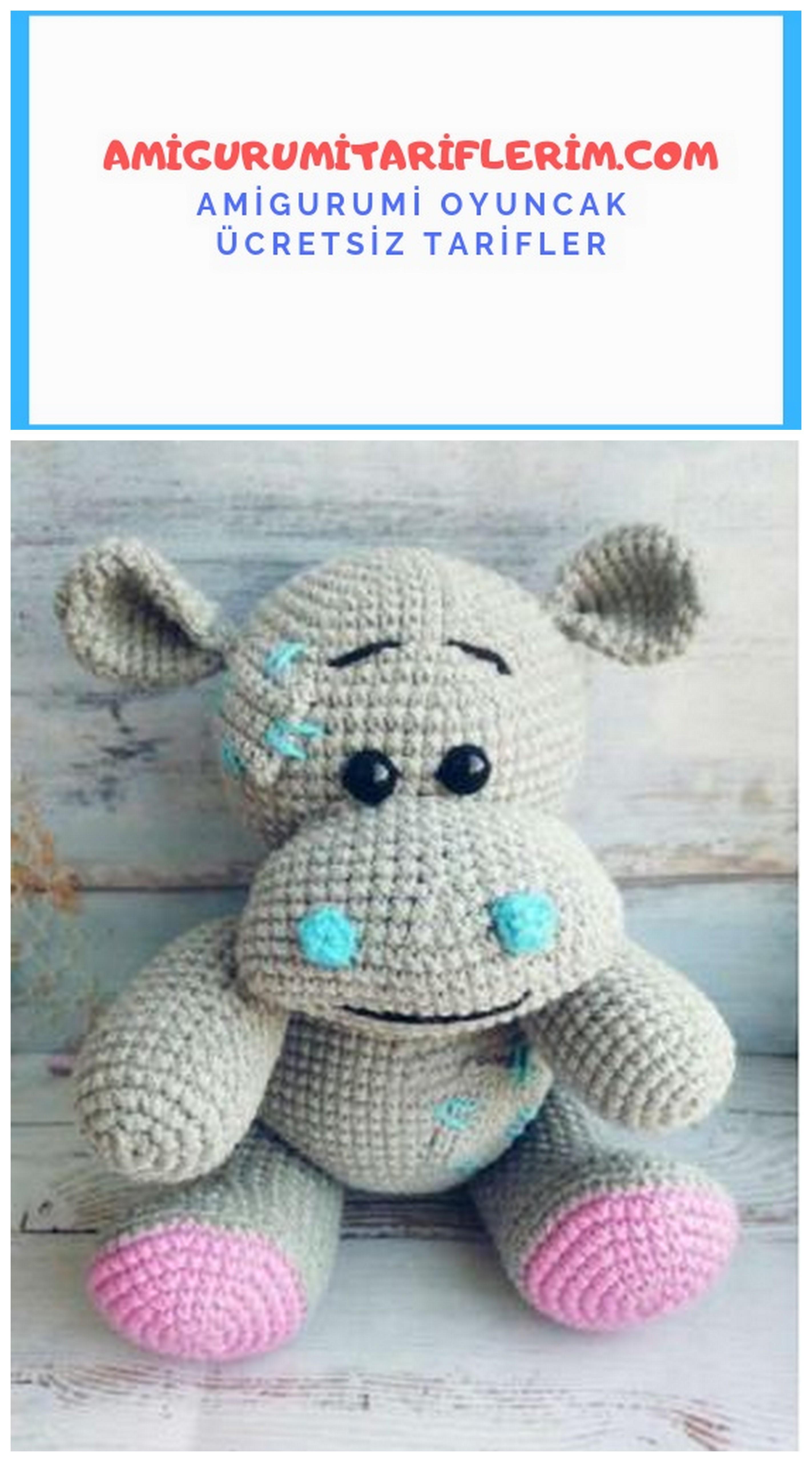 Amigurumi Aşkına: Amigurumi Hippo- Su aygırı Yapılışı | Crochet ... | 5120x2845